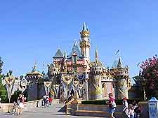 Photo of the famous castle at Disneyland, Anaheim, California, USA