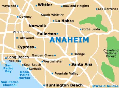 Anaheim Maps and Orientation Anaheim California CA USA