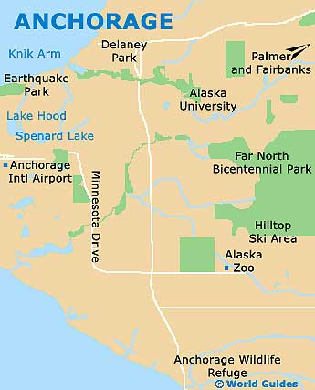 Map of Anchorage