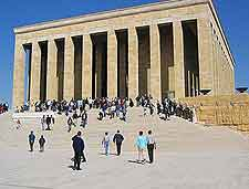 Close-up image of the Ataturk Mausoleum (Anitkabir)