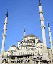 Different image of the Kocatepe Mosque (Kocatepe Camii)
