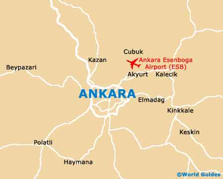 Ankara Area map