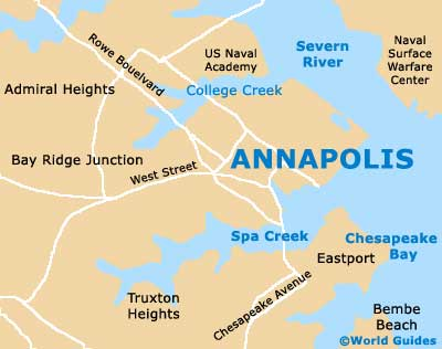 Annapolis Maps And Orientation Annapolis Maryland MD USA - Maryland usa map
