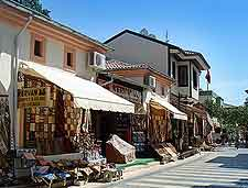Further picture of shops in the Old Town (Kaleici)