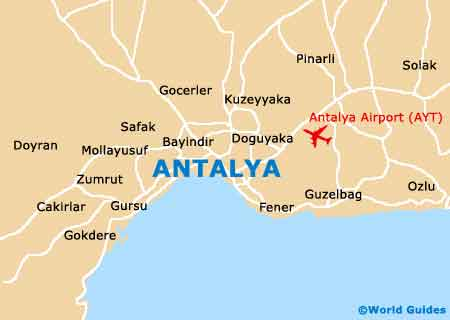 Antalya Maps and Orientation Antalya Turkey