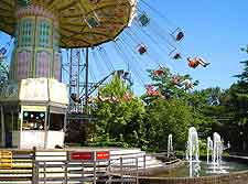 View of Bobbejaanland Amusement Park at Lichtaart