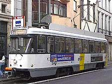 Picture of tram in the city