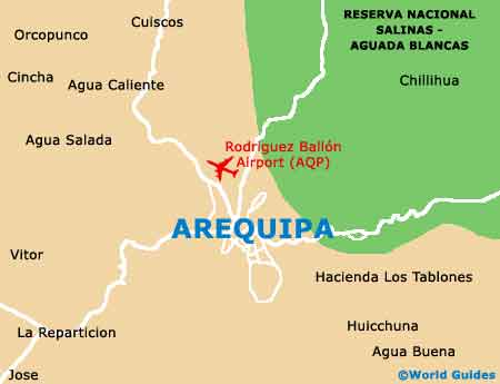 Small Arequipa Map