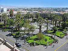 Aerial view of the Plaza de Armas
