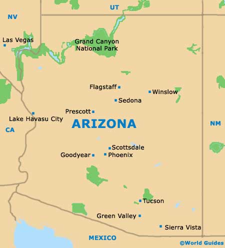 Arizona AZ State Map