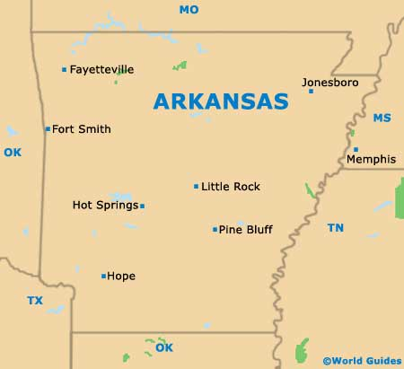 Arkansas On The Map Of Usa Afputracom - Arkansas on a us map