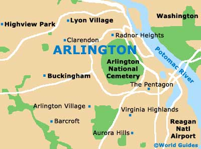 Small Arlington Map