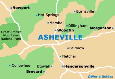 Small Asheville Map