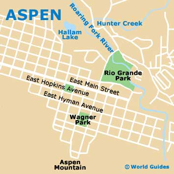 Aspen Maps and Orientation: Aspen, Colorado - CO, USA