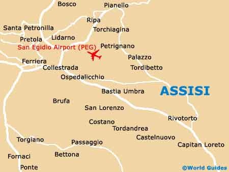 Small Assisi Map
