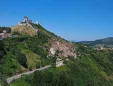 Picturesque view of the Rocca Maggiore