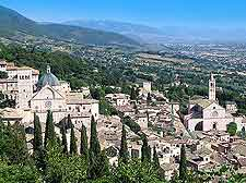photograph of the Assisi skyline