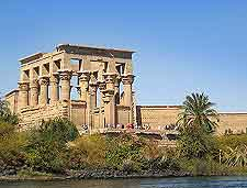 Photo of the Philae Temple and River Nile