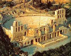 Photo showing Athens open-air theatre of Dionysus