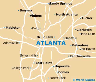 Map of Hartsfield Jackson Atlanta Airport ATL Orientation and