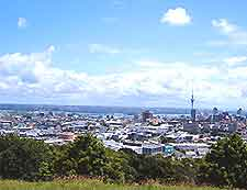Aerial view over Auckland