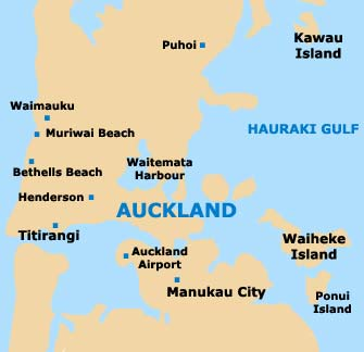 Small Auckland Map
