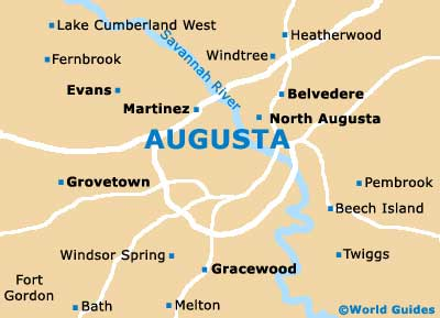 Map Of Georgia Augusta.Augusta Maps And Orientation Augusta Georgia Ga Usa