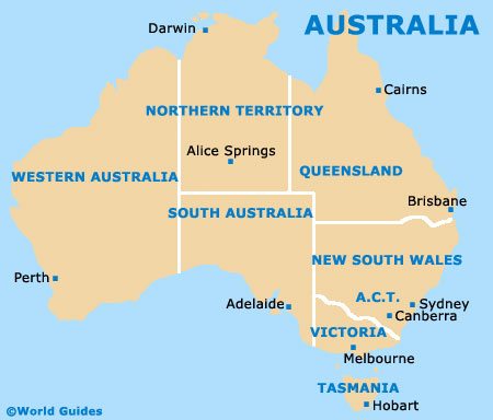 Map Of Australia And Tasmania.Hobart Maps And Orientation Hobart Tasmania Tas Australia