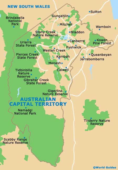 Australia Map Canberra.Canberra Maps And Orientation Canberra Australian Capital