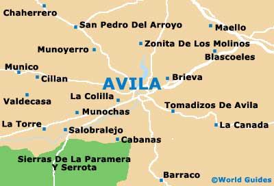 Small Avila Map