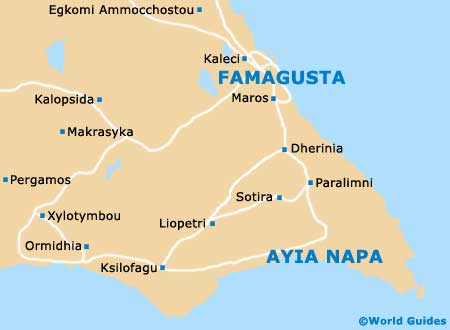 Small Ayia Napa Map