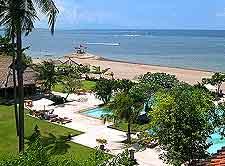 Aerial photo of local resort