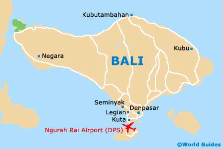 Small Bali Map
