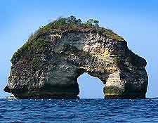 Picture of the Indonesian island of Nusa Penida
