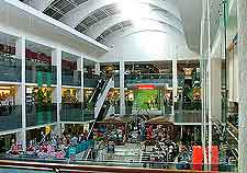 Interior view of the Discovery Shopping Mall