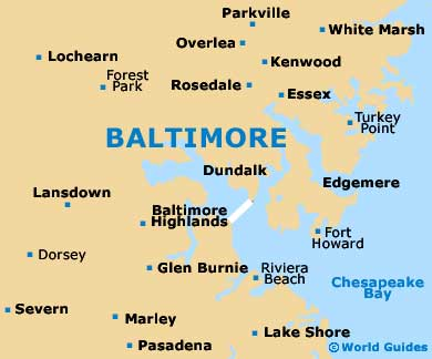 Small Baltimore Map
