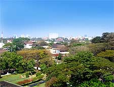 Photo of the downtown district, taken from the Gedung Sate building