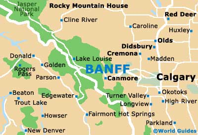 Banff Maps and Orientation Banff Alberta AB Canada