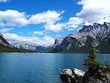 Nearby lake minnewanka a scenic spot offering boat tours fishing