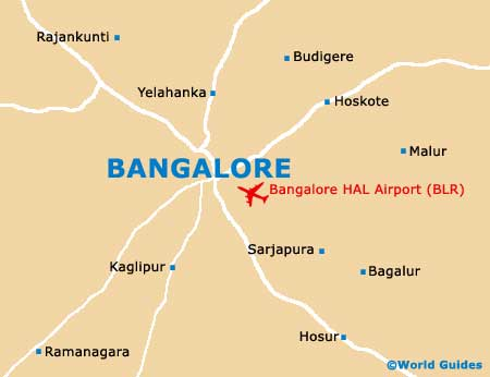 hal bangalore map