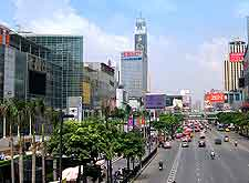View of central shopping malls