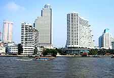 Bangkok Airport (BKK) Airlines: Photograph of the skyline and waterfront