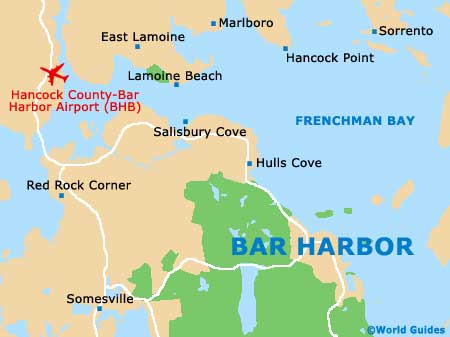 Small Bar Harbor Map