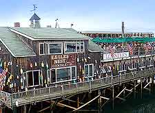 Harborfront photo of popular eatery