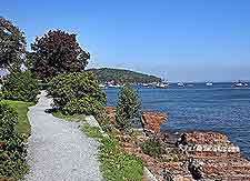 Bar Harbor Tourist Attractions: View of waterfront hiking trail