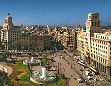 Scene of Placa Catalunya, Barcelona