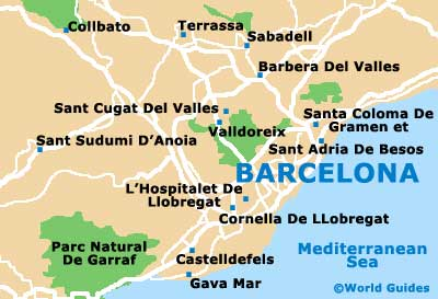 Small Barcelona Map