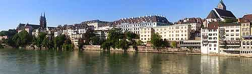 Panoramic photo of the River Rhine
