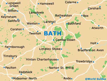 Map Of Bath England  London Map