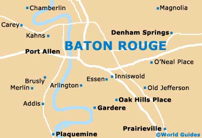 Baton Rouge Maps and Orientation Baton Rouge Louisiana LA USA